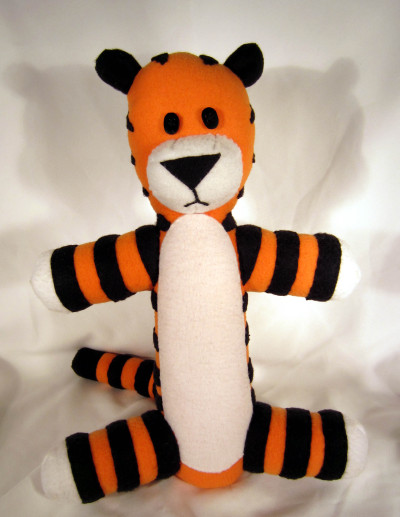 mowkmountain:  Custom, hand-made Hobbes.  Bringing a beast this ferocious to life was dangerous and ill-advised.  Mailing him away to attack someone else was done in the interest of personal safety. http://flic.kr/s/aHsjE7u6Qj