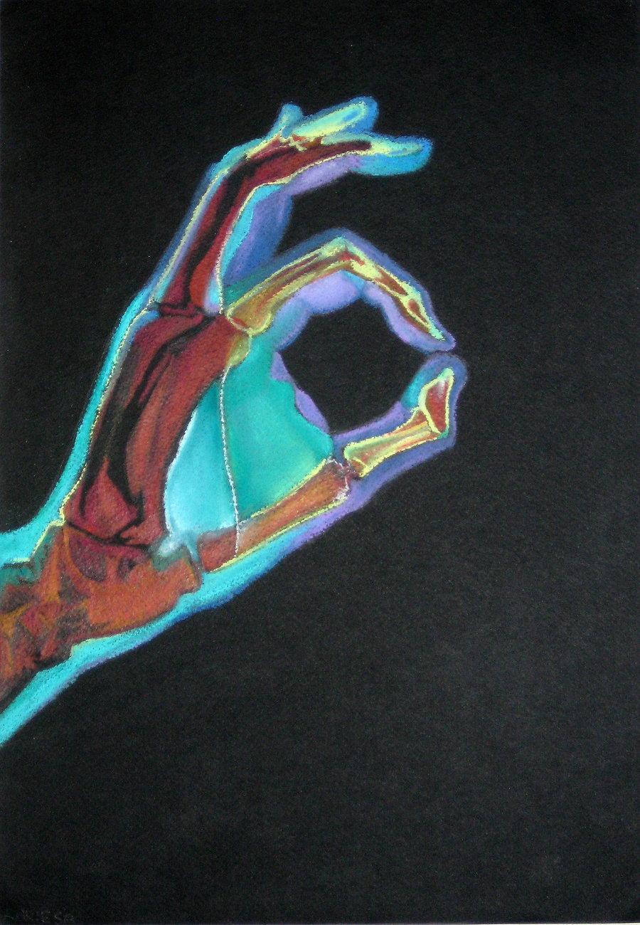 danelleisnice:  COLOURED x-ray handdd by ~reecekikluvloot  :3
