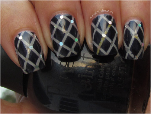 Quilted look with Finger Paints Gallery Glam & China Glaze Sea Spray View Post shared via WordPress.com