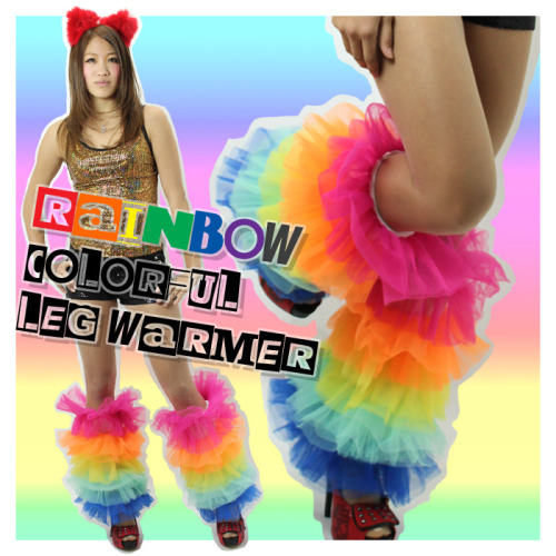 Rainbow Colorful Leg Warmer by Bleek