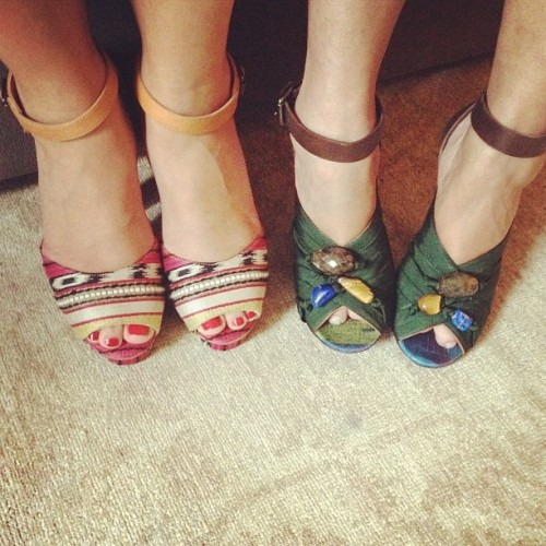 matchbookmag:  Fancy feet on set! #behindthescenes