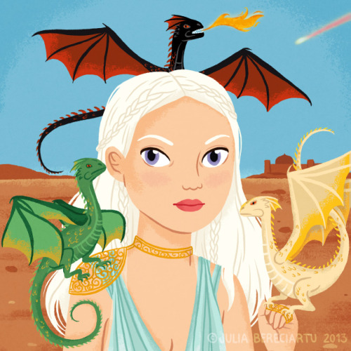 The mother of dragons (via Juliabe)