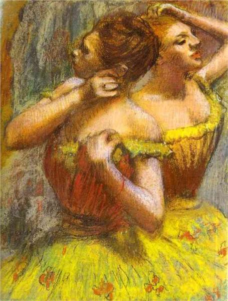 """Two Dancers"" Edgar Degas"