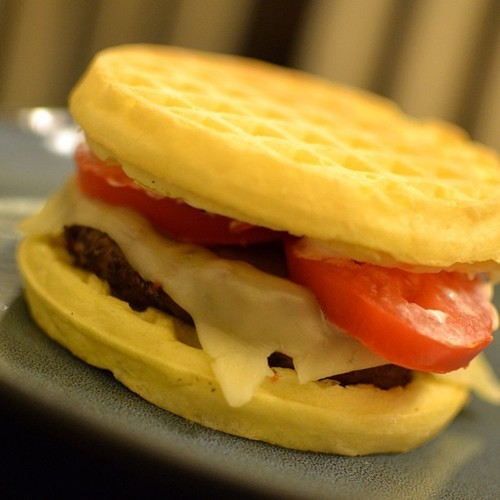 I made a waffle burger, it was hella good. #Bomb #Dank #Fire #ImFat #WannaBite