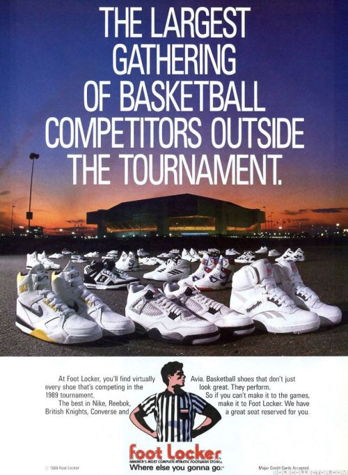 1989 Footlocker March Madness AD