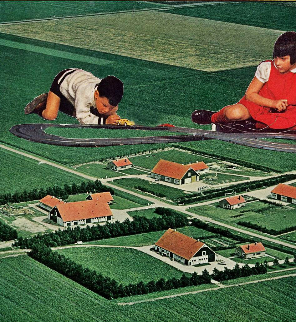 pleasantvalleysupply:  early youth expressway (collage) art // magazine cut & paste done by me (pleasantvalleysupply)