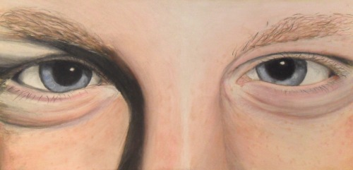 Pastel study of my friend's eyes :D