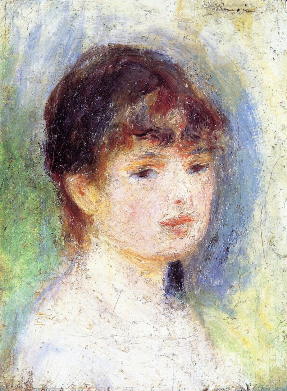 bofransson:  Portrait of a Young Woman Pierre Auguste Renoir - 1877