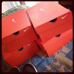 Went for one pair, came out with 4 ..it happens👍😂 #nikes #orlando #runningShoes 😍