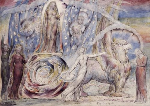 """pastorofmuppets:way-of-the-panther:William Blake:(1757 –1827) was an English painter, poet and printmaker. «&#160William Blake is considered a British pre-Romantic painter, even if he did not create oil paintings, preferring watercolor, drawing, engraving, lithography and especially poetry. He is the author of a work inspired by the biblical prophetic visions. His hallucinated style is modern and distinguishes it from his peers that his themes are classic. According to him, """"If the doors of perception were cleansed every thing would appear to man as it is, infinite. """"This formula has inspired the naming of the test Aldous Huxley, The Doors of Perception, which itself inspired the name of the rock band&#160: The Doors.&#160»Why be bleak when you can be Blake?"""