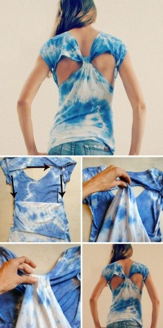 DIY this cutout back T-shirts at home. Breezy summer is coming, yeah! Get more creative DIY ideas from here.