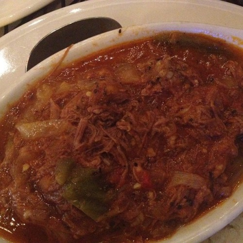 Ropa vieja (at David's Cafe)