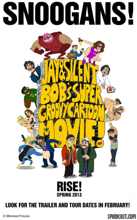 comicbookmen:  JAY AND SILENT BOB'S SUPER GROOVY CARTOON MOVIE POSTER RELEASED!  Tour dates to come in February.  (via Jay & Silent Bob's Groovy Cartoon Movie)
