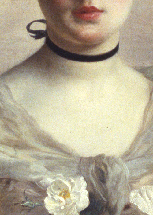 soyouthinkyoucansee:  Gustave Jean Jacquet, Unknown portrait (detail)