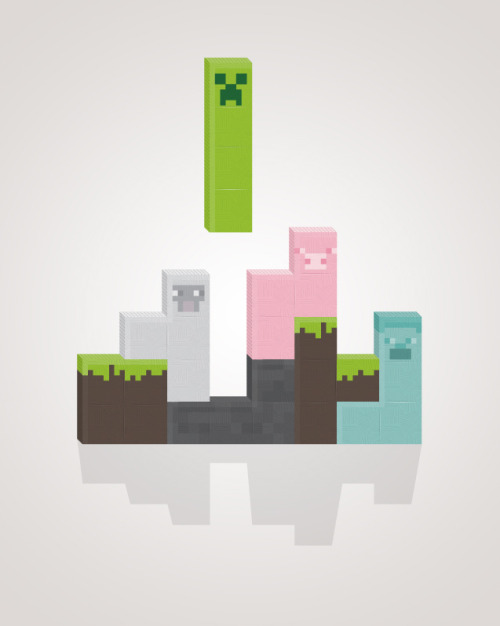 insanelygaming:  Minecraft Meets Tetris Created by Namphuong Van (via it8bit)