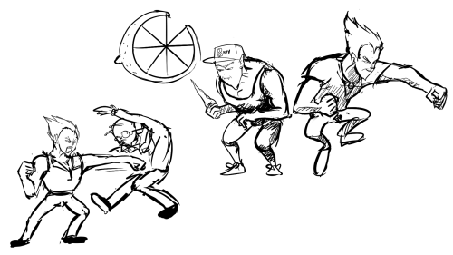 I guess it's been long enough. These are concept sketches from a game, which unfortunately, never came to be.