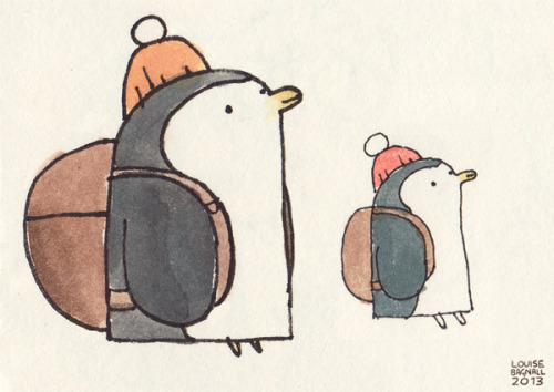 elbooga:  Penguin Doppelgänger. From two different pages in my sketchbook.