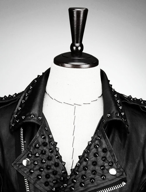 deathgazer:  Studded biker leather jacket by 'the R'
