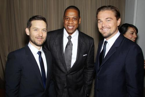 'The Great Gatsby' Premiere: Tobey Maguire, Jay-Z, and Leonardo DiCaprio Seriously. Leo is like a fine wine.