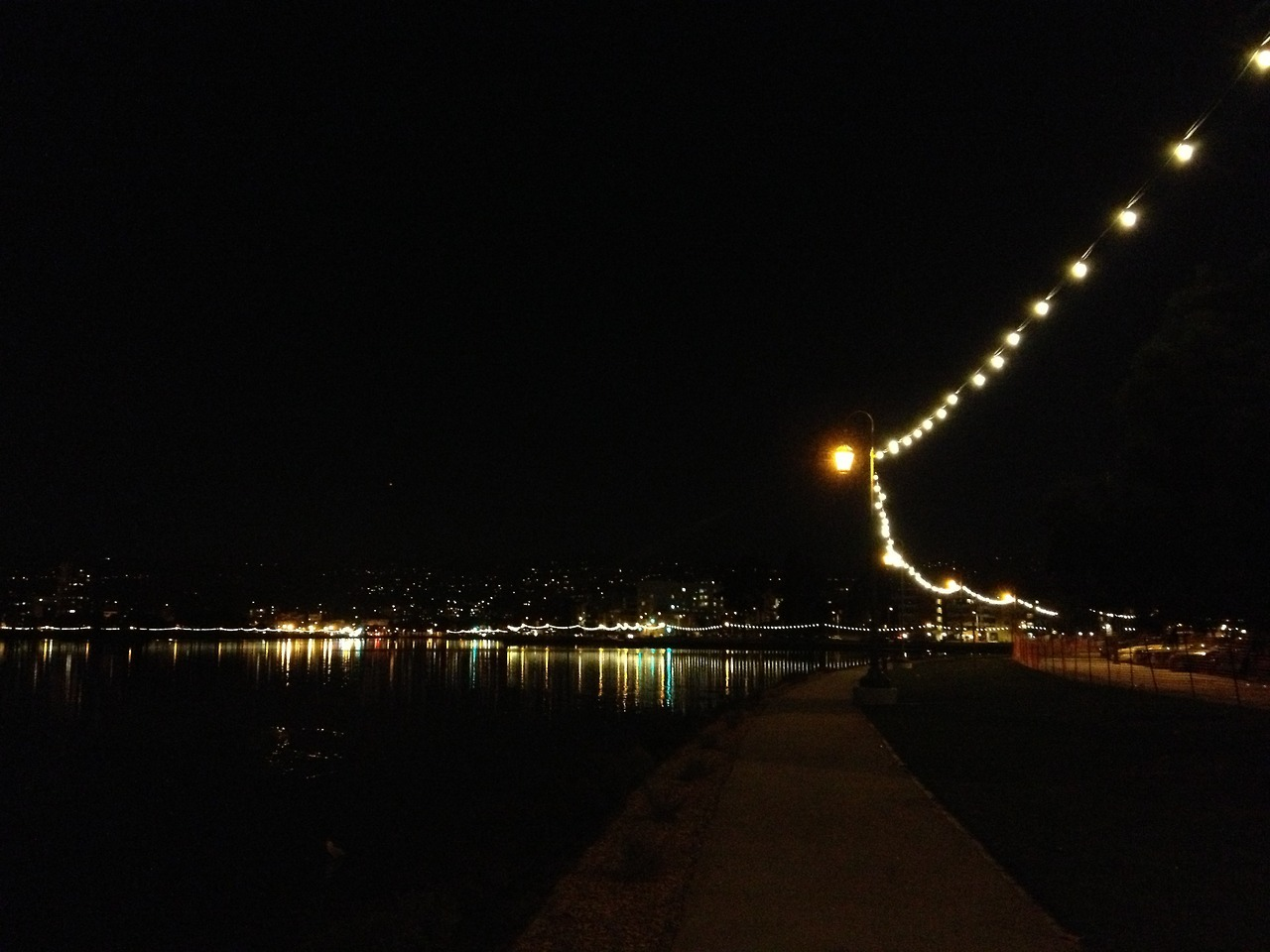 Lake Merritt at Night [Taken 2/24/13 at Lake Merritt in Oakland, CA using iPhone 4S]