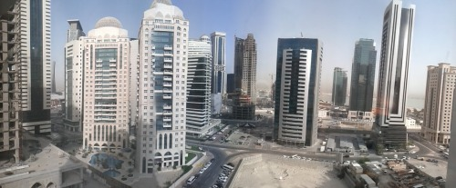 Doha is a strange city not because of its large number of skyscrapers but because the ratio of skyscrapers to rest of buildings is so lopsided. The area of the city I'm in is essentially just a few square kilometres of skyscrapers and nothing else.