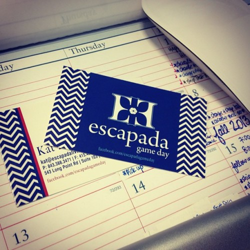 Are you ready?? #Escapada Gameday Collection debuting this April, in stores Fall 2013. #sneakpeek #college #gameday #football #schoolspirit