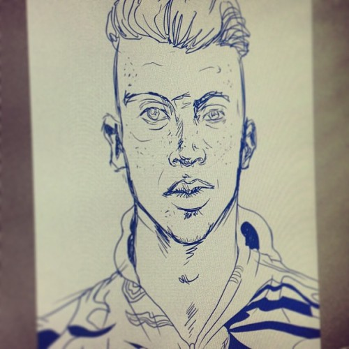 scottdrummond:  Working on a #Macklemore art print idea. #art #print #illustration