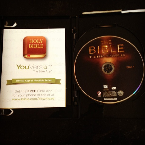 "Now watching ""The Bible"" epic miniseries. from Genesis through Revelation. #moviemarathon ❤🙏"