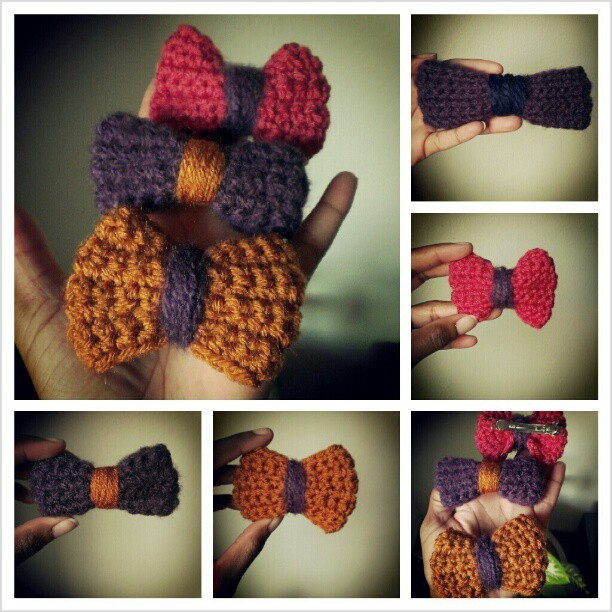 Crocheted Bows @threesweettulips