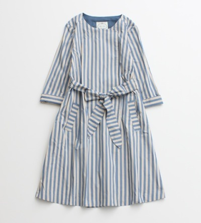 Casual Fashion / non-sens striped dress