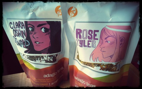 Preparing to ice some Rose Tyler tea. And I FINALLY got more TARDIS tea. Oh how I've missed it!