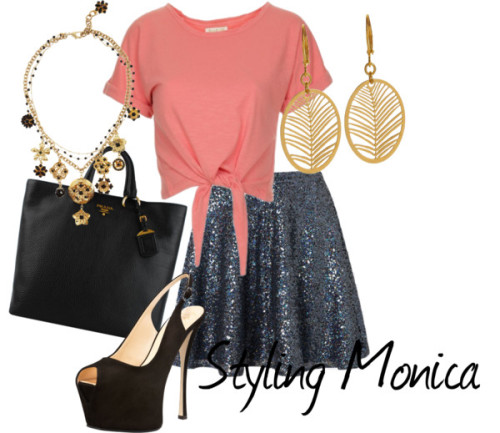 Untitled #619 by stylingmonica featuring a skater skirt