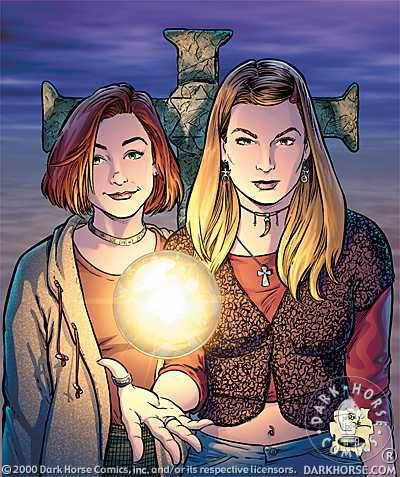 terrymooreart:  Willow & Tara cover art.