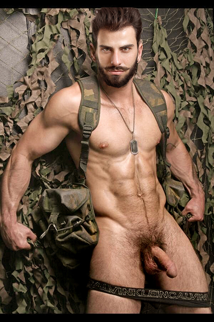 gay mature soldier men