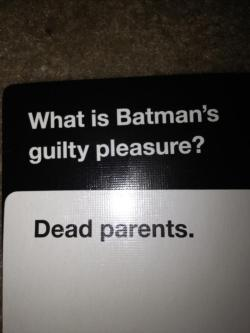 pawsthomasanderson:  We were playing Cards against Humanity (Apples to Apples) and this happened and I'm fucking dying
