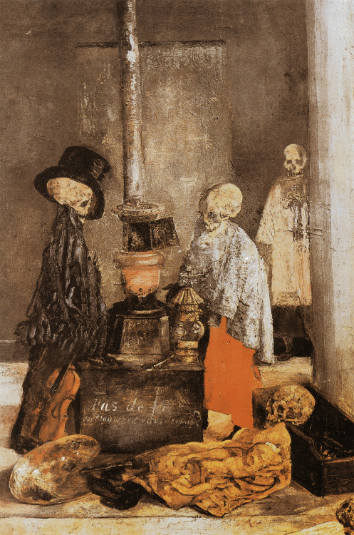 Skeletons Warming Themselves by James Ensor