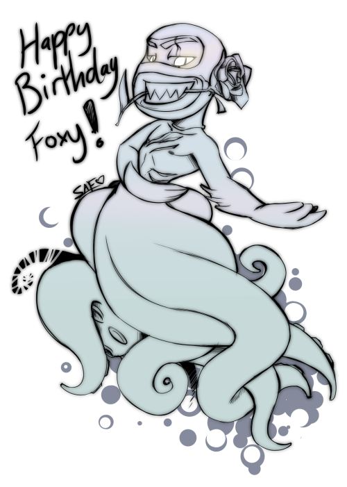 foxgirl001:  darklitria:  for Foxy :), wish her happy b-day guys! happy b-day foxy! ^^ and ur mom too :)  OMG SAF!!! I LOVE YOUUU!!! <33333