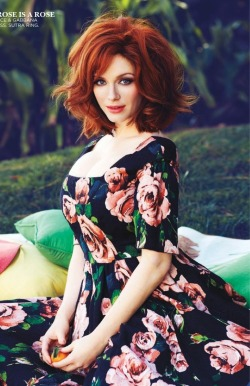 fuckyeahhotactress:  Christina Hendricks – Flare Canada May 2013