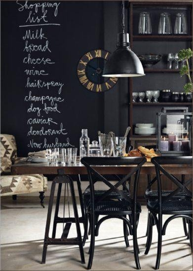 chalkboard is the new black (via pinterest)