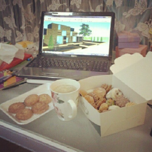 My cafeteria for this night #cookies #nescafe #coconut #work #working #studying #yummy #yum #laptop #design #sustainable #cafeteria #myroom #mystyle #My_photography #mylife #instafood #instaphotography #instaedit #instawork
