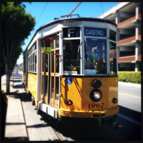 F line in SF - love the old trams from around the world. Riding the one from Milan.
