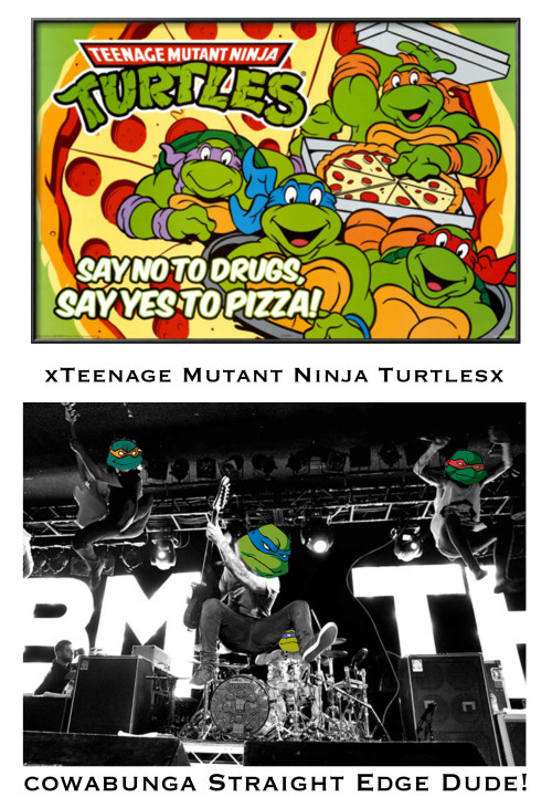 Urgh… Why are the TMNT playing with BMTH behind them?