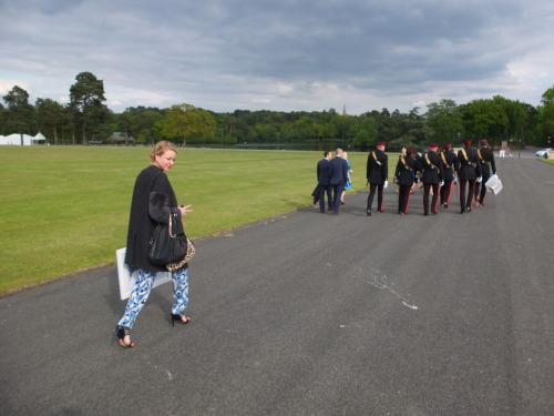 I went to a wedding at Sandhurst… … and said the 'C' word in the house of Jebus and big daddy God. Apparently thats not cool. (Not even counting the amount of times I said the 'F' word) I DO!……….. I mean, I WILL walk behind men in uniform, carrying 2 handbags worth a total of 4k… AND a made-to-order drawing by my own fair hand; my gift to the happy couple AND swearing with my hand (bearing in mind the WHOLE wedding party are walking behind us (including grannies etc)) Desperate for a glass of champagne… Life's a bitch… It helps if you have a silk jumpsuit. On another note - AMY!.. Please eat something. (Or transfer your anorexic tendencies to my own vaguely tolerable and fatter silhouette).