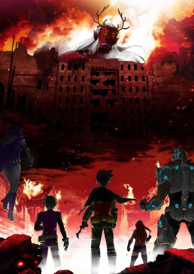 matthulksmash:  nielyoung23:  Attack on Teen Titans  This is how there series should have gone! I love the updated costumes and everything about this!