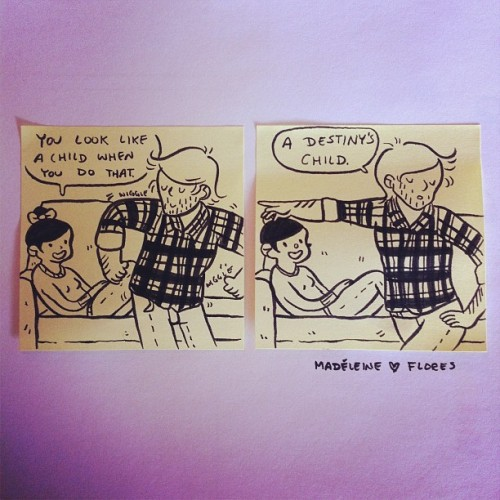 madeleineishere:  💫Post-it-Love Note getting sassed by my boyfriend edition💫