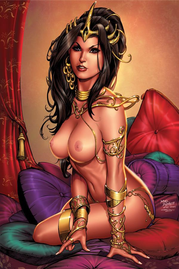 Erotic art comic book