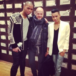 @a__v__c, #VOGUE Germany's Oliver Raugh and I @ the Louis Vuitton fête @LouisVuitton #LV #LouisVuitton #PFW (at Louis Vuitton)