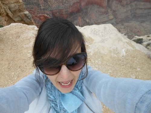 this photo of Ciji on the edge of the Grand Canyon gives me vertigo for days