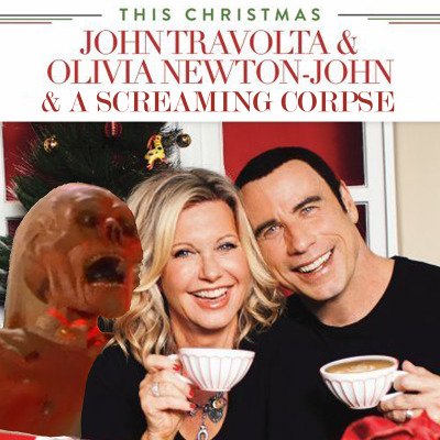 sacredhangnail:  mkupperman:  John Travolta & Olivia Newton-John & a Screaming Corpse  Perfect.