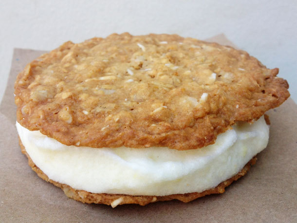 Anzac Cookie and Pineapple Ice Cream Sandwiches